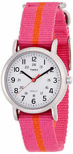 "Timex T2P072, Women's ""Weekender"" Pink Fabric Watch, Indiglo, T2P0729J"
