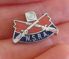 NATIONAL SMALLBORE RIFLE ASSN vintage quality enamel crossed guns pin BADGE