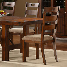 Swindon Rustic Oak Wood Finish Dining Room Furniture Side Accent Chair Set Of 2
