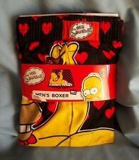 "THE SIMPSONS HOMER "" LADIES MAN""  W/ HEARTS SIZE XL. NEW IN  PACKAGE. FREE SHIP"