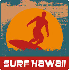 Car Window Bumper Sticker - Hawaiian Art Decal - Surf Hawaii