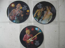"POLICE 1984? UK STING INTERVIEW (3) 7"" PICTURE DISC FULL SET NEW/MINT"