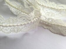 1 inch wide Vintage Style Lace Pearl Ribbon Trim ivory selling by the yard
