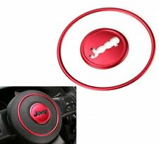 Steering Wheel Center Trim Cover for 2014-2016 Jeep Wrangler Compass Patriot Red