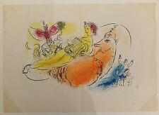 Marc Chagall L'accordéoniste Lithographie Originale 1957
