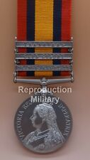 Full Size Die Struck Queens South Africa Medal including Three Clasps and Ribbon