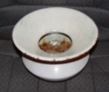 Vintage 1800's Cast Iron Spittoon (Covered by White Enamel)