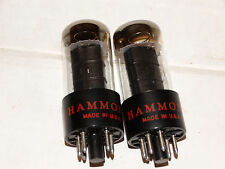 2 x 6V6gt G.E. - Hammond Tubes *Black Plates*Copper Posts* Matched Tested*#2