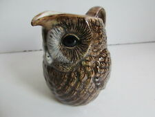Delightful Tawny Owl Cream Jug By Quail Pottery Boxed Great Gift.