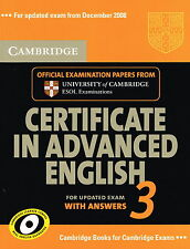 Cambridge CERTIFICATE IN ADVANCED ENGLISH 3 w Answers CAE ESOL Examination @NEW@
