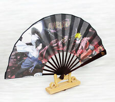 Bamboo Folding Fan of NARUTO Uzumaki Sasuke double side printings 8""