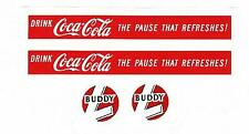 "BUDDY-L COKE TRUCK DECAL SET-2 -  6""  X  5/8"""