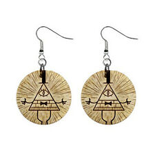 "New Gravity Falls Bill Cipher 1"" Button Earrings Free Shipping"
