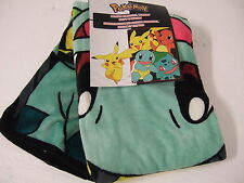 NWT Pokemon Pikachu Charmander Squirtle Anime NES 46x60 Plush Throw Blanket