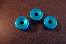 Light weight Aluminum BOTTOM Valve Caps for Bach Trumpets ISLAND BLUE NEW! WOW!