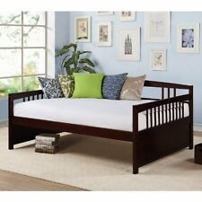 Daybed Sofa Sleeper Full Size Wooden Day Bed Couch Lounge Guest Espresso