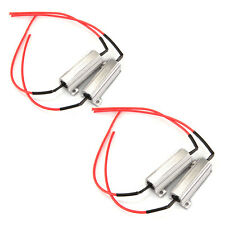 4pcs 50W 6ohms LED Turn Signal Light Resistor for 12V Motorcycle Car Silver