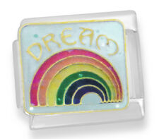 Dream over rainbow Italian charm - 9mm classic link   (A53)