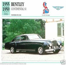 BENTLEY CONTINENTAL S1 1955 1959 CAR VOITURE Great Britain CARTE CARD FICHE