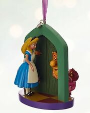 Disney Christmas Cheshire Cat Alice Sketchbook Door Ornament Decoration