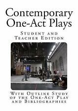 Contemporary One-Act Plays: Contemporary One-Act Plays : With Outline Study...