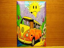 Decorative Light Switch Covers-Decoupage-Sunshine VW Bus-Print-Made to order