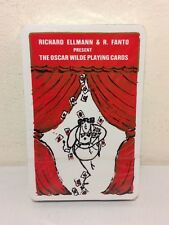 New Vintage Oscar Wilde Poker Playing Cards: Richard Ellmann & R. Fanto