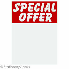 48 SPECIAL OFFER Printed Sale Card 4x3 Price Tickets Label Discount Shop Pricing