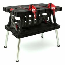Keter Folding Work Table Bench Mate with 2 Clamps