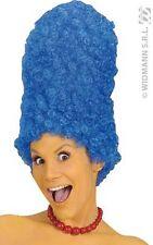 Perruque Bleue Afro SIMPSON MARGE Déguisement Adulte Femme Costume