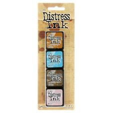 Tim Holtz Mini Distress Ink Pad Kit #6 TDPK40361 - 4 pk