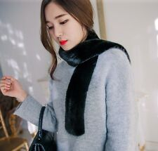 Women's  Jinsung Altesse High-grade Male Real Mink Fur Simple Both Sides Scarf