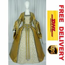 MEDIEVAL RENAISSANCE TUDOR WEDDING HANDFASTING LARP GOWN DRESS COSTUME --- 18H