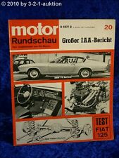 Motor Rundschau 20/67 Fiat 125, VW 1500 + 1600 BMW V8
