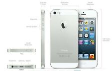 New Apple iPhone 5s Silver Factory Unlocked Movistar Vodafone H2O Straight Talk
