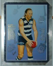GARY ABLETT SNR HAND SIGNED FRAMED LIMITED EDITION GEELONG CAREER PRINT
