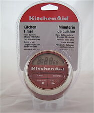 KitchenAid Digital Timer Alarm Clock LCD Display Red Cooking Baking Grilling