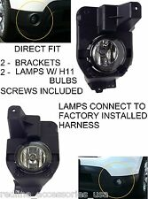 2011 - 2015 FORD EXPLORER REPLACEMENT FOG LIGHTS DRIVING LAMPS BRACKETS H11