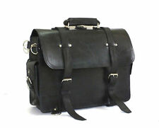 "CRAZY HORSE LEATHER MESSENGER LAPTOP BAG SATCHEL 16"" Macbook  VINTAGE Distressed"