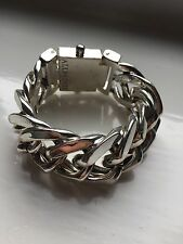 Gorgeous All Saints Silver SORAIYA Chain Statement Bracelet RRP £98