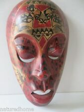 """10"""" MASK, HANDCARVED & PAINTED on the Island of Lombok, Indonesia"""