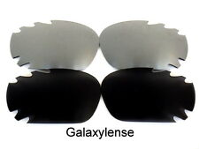 Galaxy Replacement Lenses For Oakley Racing Jacket Black&Titanium Polarized 2PS