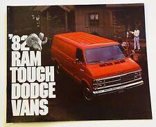 NOS 1982 Ram Tough Dodge Vans Sales Color Brochure MINT Condition