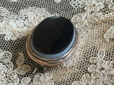 Antique Victorian Edwardian Black Onyx Mourning Pin Brooch GF