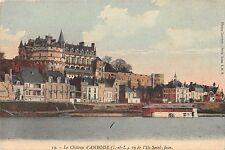 BF6362 le chateau d amboise i et l vu de l ile saint je france     France