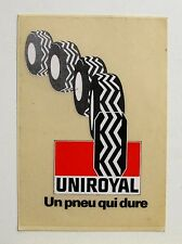 Autocollant UNIROYAL - Pneumatique - Sticker collector - Année 70 /80 vintage
