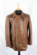 Vintage 50s Horsehide/Steerhide Leather Sports Motorcycle Biker Rancher Jacket M