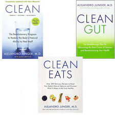 ​Alejandro Junger Health,Dieting&Wholefood Collection 3 Book Mixed Media English