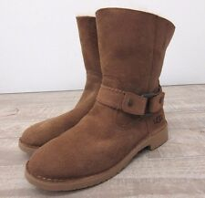 UGG Australia $195 Women's Cedric Harness Boots in Chestnut Size: 7.5