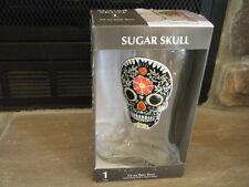 BLACK SUGAR SKULLS GLASS BEER BOOT GIANT 33 OZ 1 LITER  DAY OF THE DEAD HTF RARE